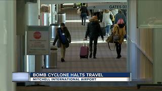 East coast weather halts Milwaukee flights - Video