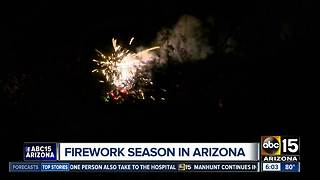 Firework season and wildfire danger