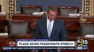Senator Flake delivers passionate speech ahead of Kavanaugh hearing