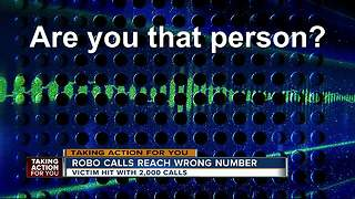 Woman files lawsuit after receiving 2,000 robocalls - Video