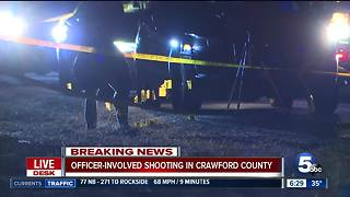 Officer-involved shooting in Crawford County - Video