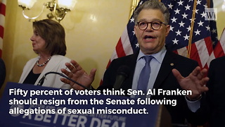 New Poll: 50 Percent of Voters Think Al Franken Should Resign as New Allegations Mount - Video
