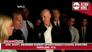 Governor Scott, Broward Sheriff, Attorney General Pam Bondi update deadly school shooting in Parkland, FL - Video