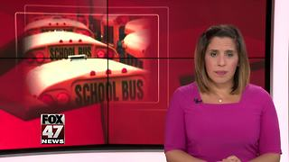 Jackson school bus hits power line - Video