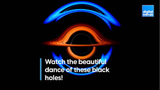Watch the beautiful dance of these black holes!