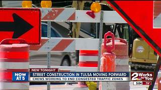 Street construction in Tulsa moving forward - Video