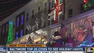 Baltimore among top 25 cities to see holiday lights - Video