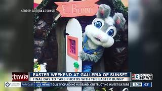 Last minute photos with the Easter Bunny at Galleria at Sunset