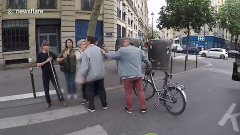 Extraordinary Road Rage Incident In Paris Involving Blind Man