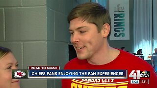 Couple who moved to Miami enjoying a Chiefs Super Bowl run
