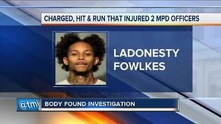 Milwaukee man charged with injuring two police officers in hit-and-run - Video