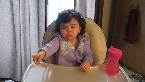 Funny Tot Girl Talks To Her Mom In Baby Babble Language