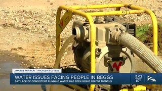 Water issues facing people in Beggs