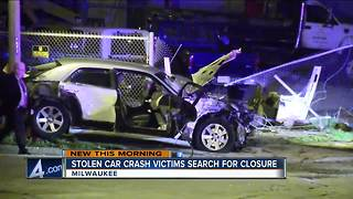 Milwaukee stolen car crash victims search for closure - Video