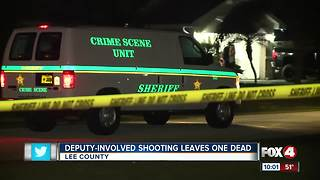 Deputy-Involved Shooting Leaves One Dead