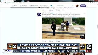 Ravens change practice schedule to allow for Pentagon tour - Video