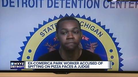 Man accused of spitting on pizza at Comerica Park facing felony charge