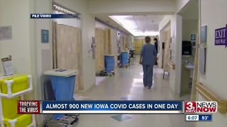 Almost 900 new Iowa COVID cases in one day