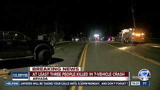 7 vehicle crash in Arvada - Video