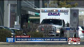 Chemical scare at Osage Casino - Video