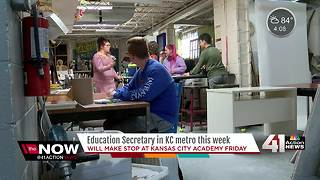 Kansas City Academy preps for DeVos visit - Video