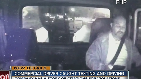 Video shows truck driver using cell phone seconds before flipping box truck off I-75 overpass