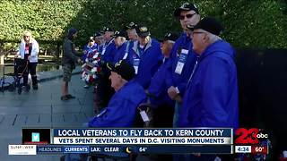 Honor Flight Kern County flies back to town tonight - Video