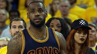 Rihanna Caught THIRSTING After LeBron James, Kevin Durant Stares Her DOWN - Video