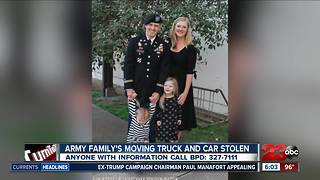 Military family's moving truck stolen