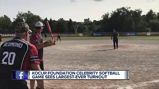 Kocur Foundation celebrity softball game sees largest-ever turnout - Video