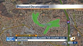 Opposition to homes planned for country club - Video