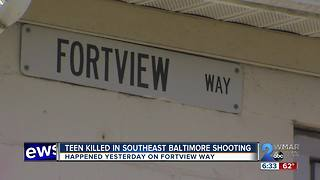 Teen Killed in Southeast Baltimore Shooting