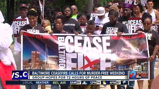 Baltimore Ceasefire prepares for fourth murder free weekend after cities 100th homicide - Video