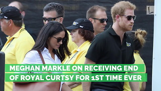Meghan Markle on Receiving End of Royal Curtsy for 1st Time Ever - Video