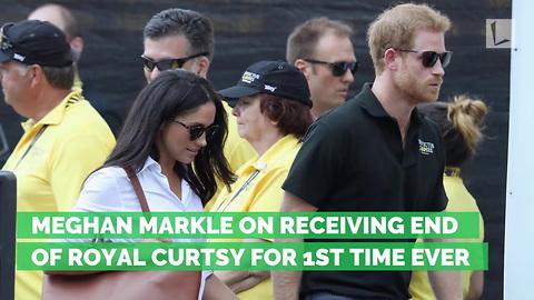 Meghan Markle on Receiving End of Royal Curtsy for 1st Time Ever
