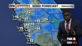 Cooler & drier air moving into SWFL tonight - Video