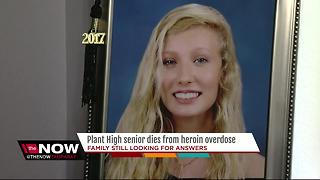 Plant High senior overdoses on heroin, her parents' warning for others - Video
