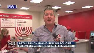 Retailers changing return policies - Video