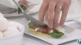 Asparagus, Prosciutto, Chevre, Poached Egg recipe - Video