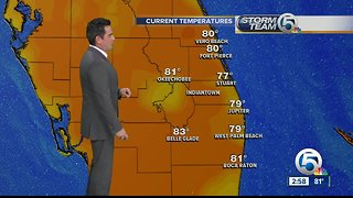Monday mid-afternoon forecast