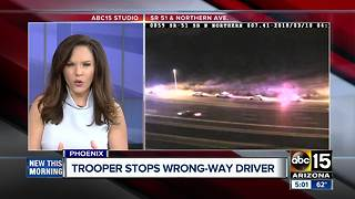 Trooper stops wrong-way driver on SR51 - Video
