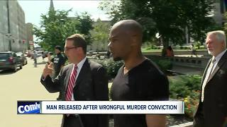 Man released after wrongful murder conviction