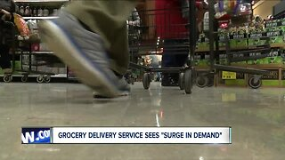 "Grocery delivery service sees ""surge in demand"""