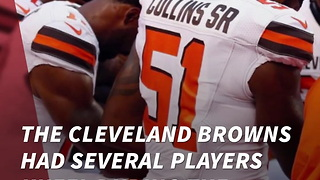 Browns Players Kneel In Prayer During National Anthem - Video