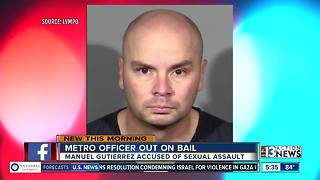 Officer accused of sexual assault out on bail - Video