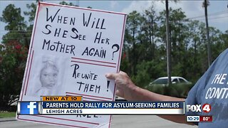 Parents hold rally for asylum-seeking families