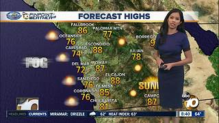 10News Pinpoint Weather for Saturday Oct. 28, 2017 - Video