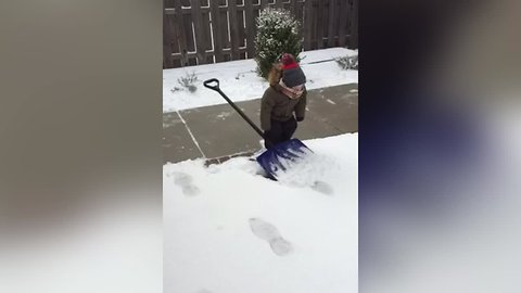 Kids React to Shoveling Snow