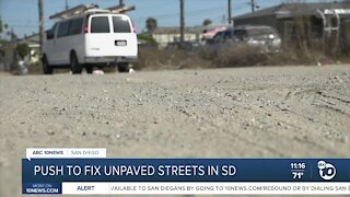 Push to fix unpaved streets in San Diego