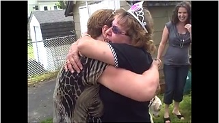 Woman Receives Double Surprise For 60th Birthday Party - Video
